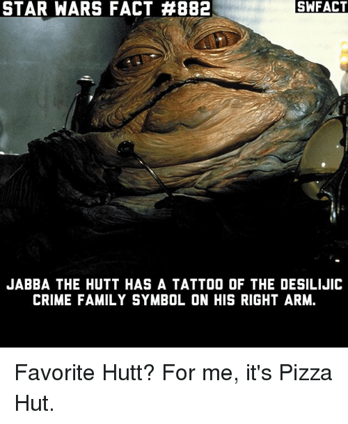 Star Wars Fact 882 Swfact Jabba The Hutt Has A Tattoo Of The
