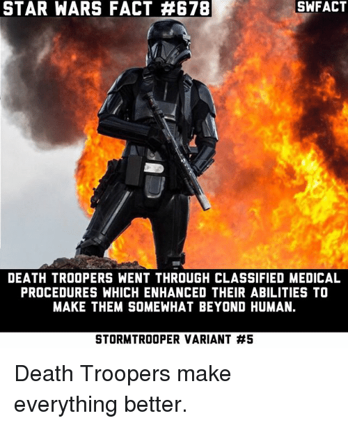 star wars fact a678 swfact death troopers went through classified 20286136 ✅ 25 best memes about star wars star wars memes