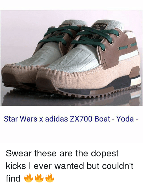 a1f12eb5d Star Wars X Adidas ZX700 Boat Yoda Swear These Are the Dopest Kicks ...