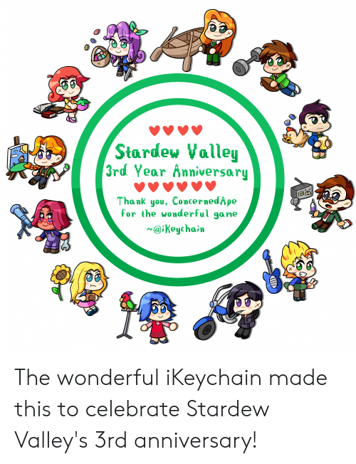 Stardew Valley CI3rd Year Anniversary Thank You ConcernedApe