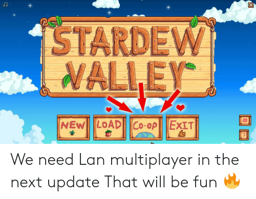 STARDEW VALLEY We Need Lan Multiplayer in the Next Update That Will