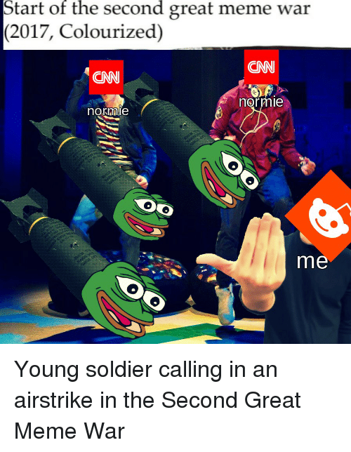 start of the second great meme war 2017 colourized cnn 25262442 start of the second great meme war 2017 colourized cnn cnn normie