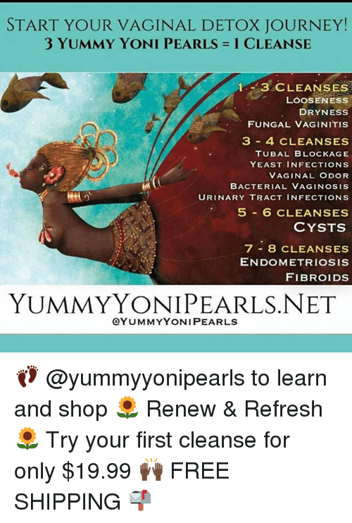 Start Your Vaginal Detox Journey 3 Yummy Yoni Pearls 1 Cleanse 1 3