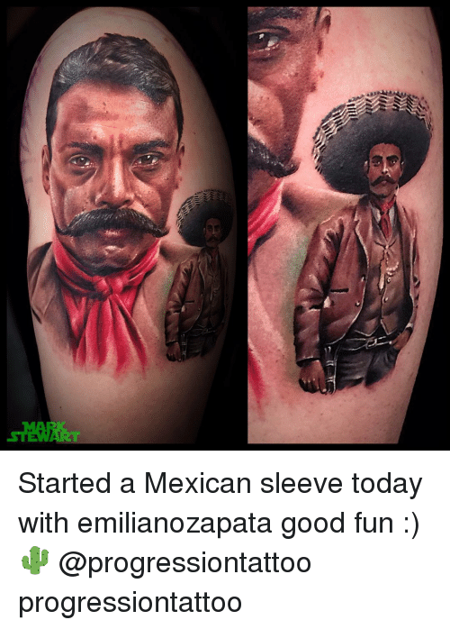 4dbb89192 Memes, Mexican, and 🤖: Started a Mexican sleeve today with emilianozapata  good fun