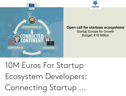 STARTUP EUROPE Open Call for Startups Ecosystems Startup