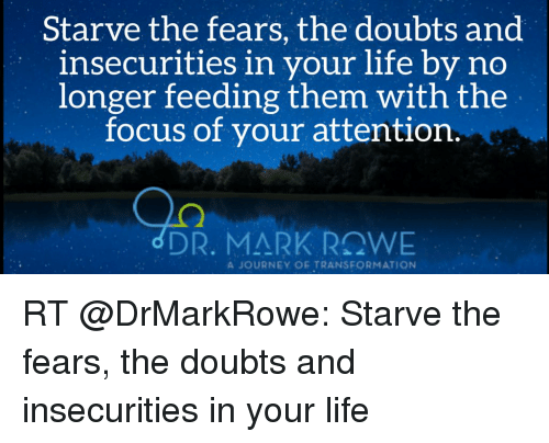 Starve the Fears the Doubts and Insecurities in Your Life by No
