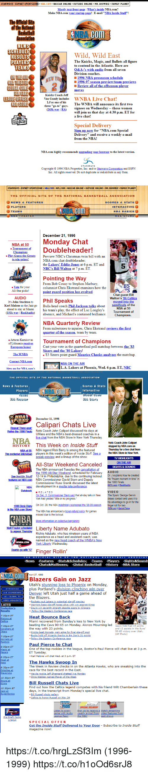 """Philadelphia 76ers, All Star, and Atlanta Hawks: STARWAVE ESPNET SPORTSZONE NBA.COM. NASCAR ONLINE OUTSIDE 0NLINE. MR. SHOWBIZ. FAMILY PLANET  Mostly text front page 