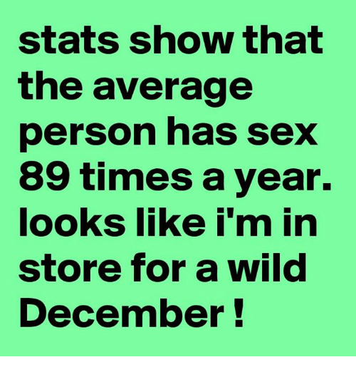 Average times a person has sex