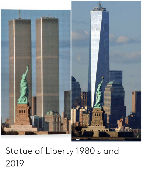 Statue of Liberty, Liberty, and  1980s: Statue of Liberty 1980's and 2019