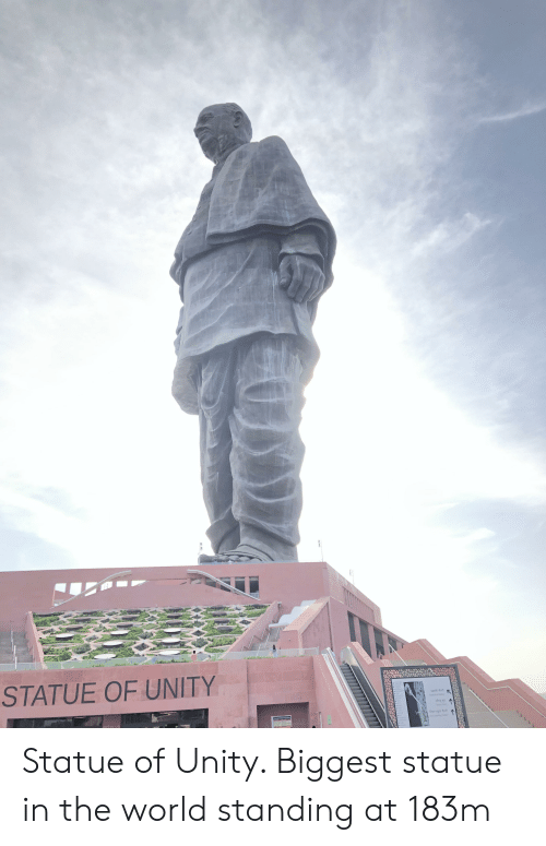 Unity, World, and Foot: STATUE OF UNITY  प्रदर्शानी गैलरी  Exhibtion Gay  Sta Foot  t to sngry Statue of Unity. Biggest statue in the world standing at 183m