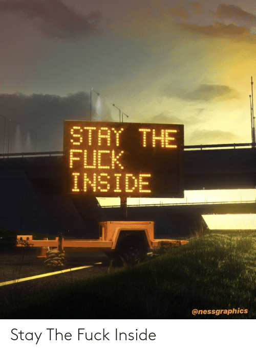 Inside, Stay, and The: Stay The Fuck Inside