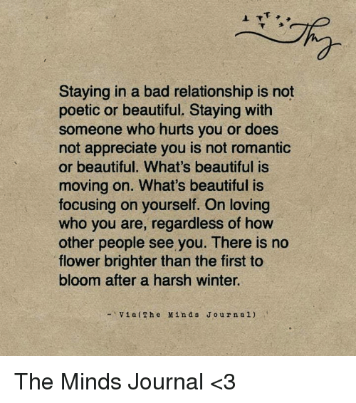 Moving on from a bad relationship