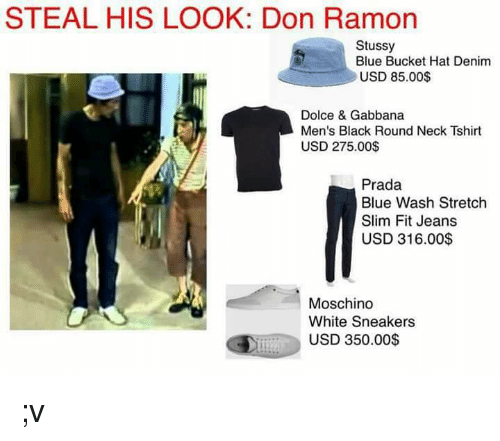 2c8691009f8 STEAL HIS LOOK Don Ramon Stussy Blue Bucket Hat Denim USD 8500 ...