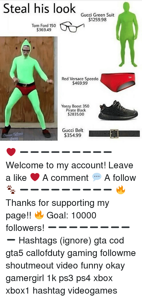 e5ac805ee Gucci, Memes, and Versace: Steal his look Gucci Green Suit $1259.98 Tom Ford