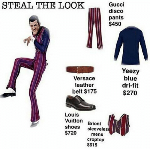 e4acec02a Gucci, Memes, and Shoes: STEAL THE LOOK Gucci disco pants $450 Yeezy blue