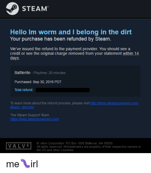 can i get a refund on steam after 14 days