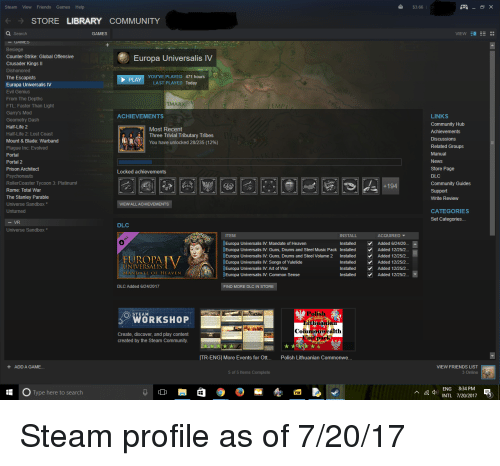 Steam View Friends Games Help $366 STORE LIBRARY COMMUNITY Search