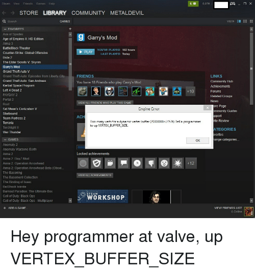 Steam View Friends Games Help 6 007 STORE LIBRARY COMMUNITY