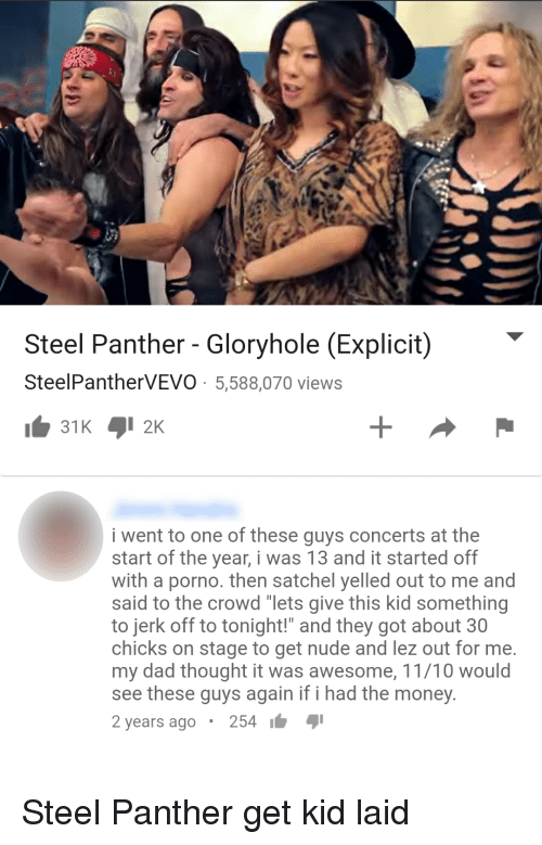 Dad, Money, and Nude: Steel Panther Gloryhole (Explicit) SteelPantherVEVO  5,588,070 views