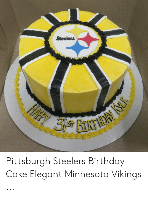 Outstanding Steelers Ffpy 3 Bnthory Ke Pittsburgh Steelers Birthday Cake Funny Birthday Cards Online Aeocydamsfinfo