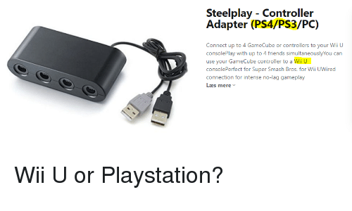 Steelplay - Controller Adapter PS4PS3PC Connect Up to 4