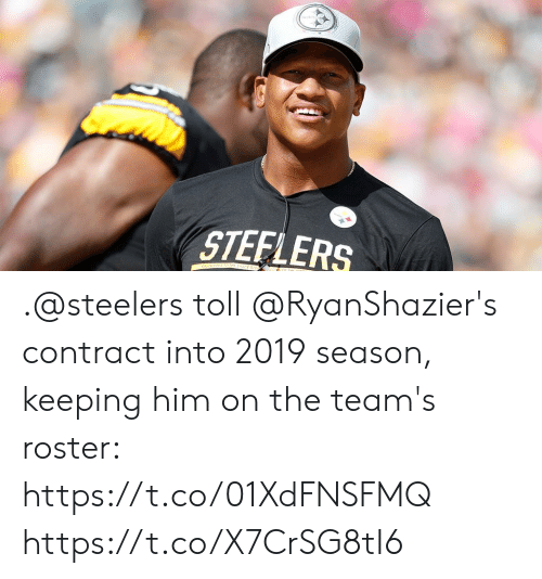 Memes, Steelers, and 🤖: STEFLERS .@steelers toll @RyanShazier's contract into 2019 season, keeping him on the team's roster: https://t.co/01XdFNSFMQ https://t.co/X7CrSG8tI6