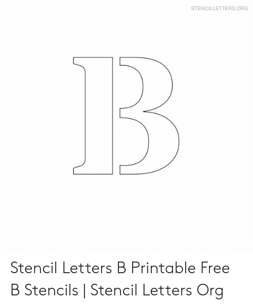 photograph regarding Stencils Letters Printable titled STENCILLETTERSORG Stencil Letters B Printable Totally free B