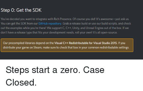 Step 0 Get the SDK You've Decided You Want to Integrate With