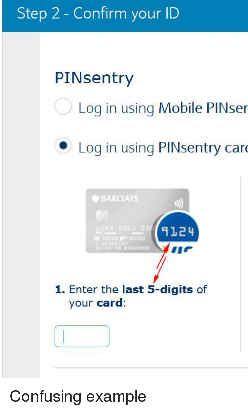 Step 2 Confirm Your Id Pinsentry Log In Using Mobile Pinser Log
