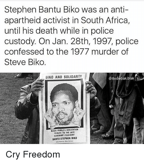 cry freedom apartheid essay Cry freedom hollywood vs  about outline sources synopsis themes search the book and wood's escape posted on  that accused the apartheid.