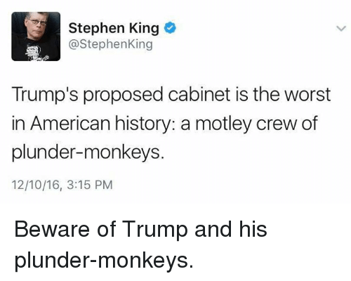 Stephen King Trump