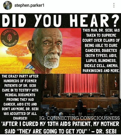 Stephenparker1 DID YOU HEAR? THIS MAN DR SEBI WAS TAKEN TO