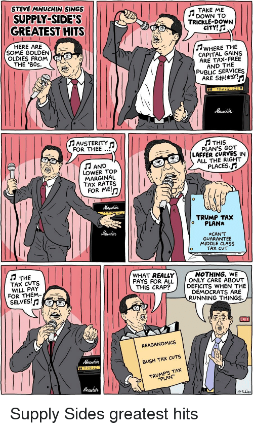 STEVE MNUCHIN SINGS SUPPLY-SIDE'S GREATEST HITS HERE ARE TAKE ME