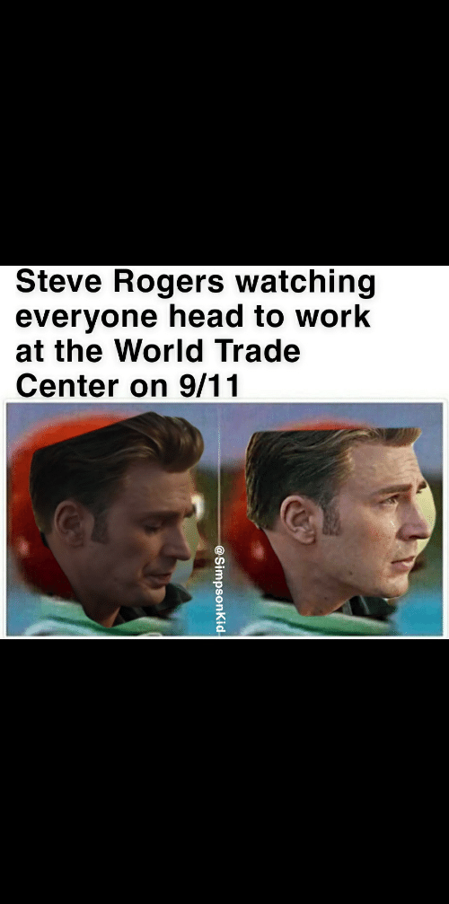 Steve Rogers Watching Everyone Head To Work At The World Trade