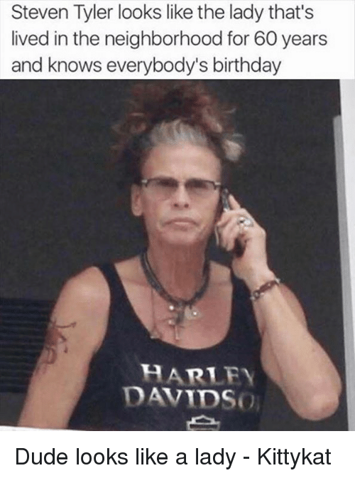 Steven Tyler Looks Like The Lady That S Lived In The Neighborhood
