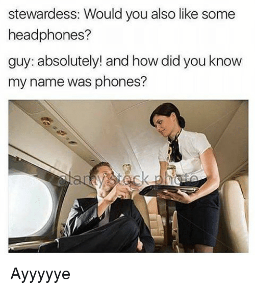 stewardess would you also like some headphones guy absolutely and 15692642 stewardess would you also like some headphones? guy absolutely