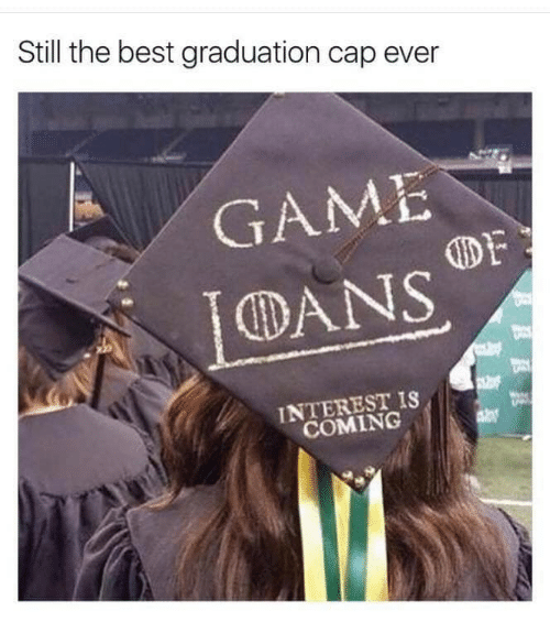 Best, Game, and Cap: Still the best graduation cap ever  GAME  DF  CDANS  INTEREST IS  COMING
