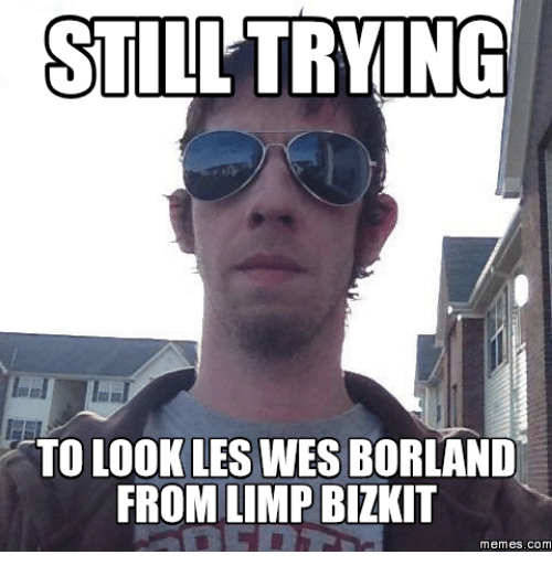 still trying to look les wesborland from limp bizkit memes 16160708 ✅ 25 best memes about limp bizkit meme limp bizkit memes,Limping Meme