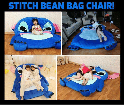 Memes, Chair, And 🤖: STITCH BEAN BAG CHAIR!