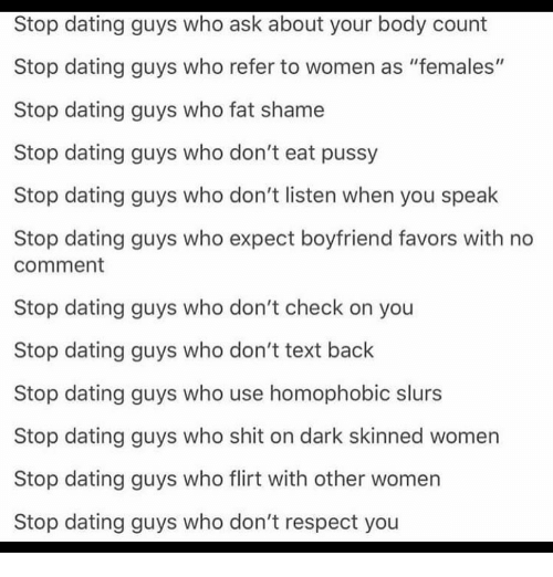 Stop dating through text