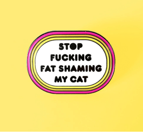 Fucking, Fat, and Cat: STOP  FUCKING  FAT SHAMING  MY CAT