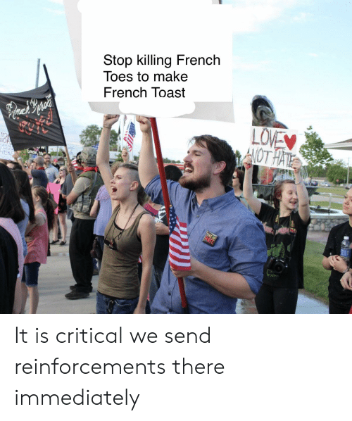 Reddit, French Toast, and Toast: Stop killing French  Toes to make  French Toast It is critical we send reinforcements there immediately