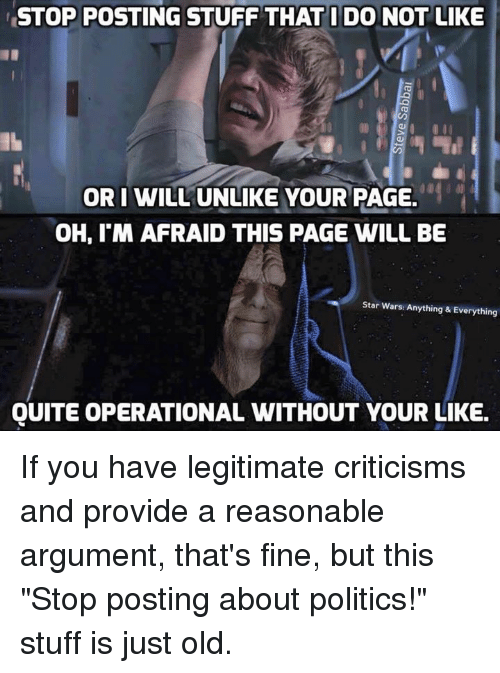 stop posting stuff do not like or i will unlike 8660354 ✅ 25 best memes about star wars star wars memes
