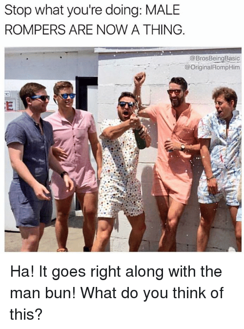 Stop What You Re Doing Male Rompers Are Now A Thing Basic Ha It