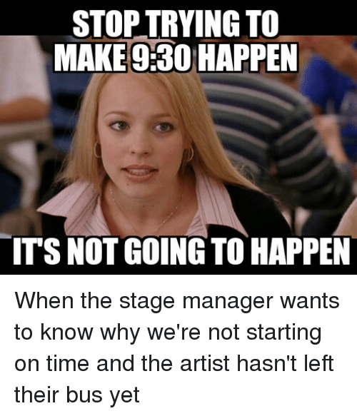 its not going to happen