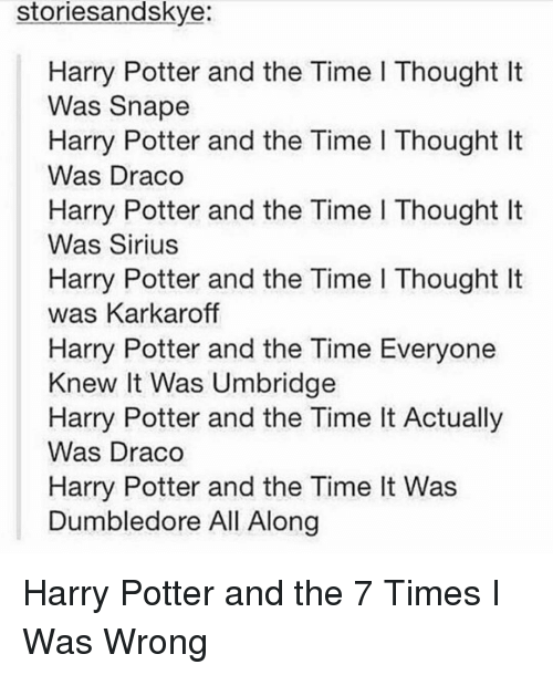 Stories Andskye Harry Potter and the Time L Thought Lt Was