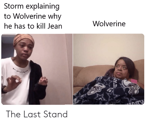Marvel Comics, Wolverine, and Storm: Storm explaining  to Wolverine why  Wolverine  he has to kill Jean  SO The Last Stand