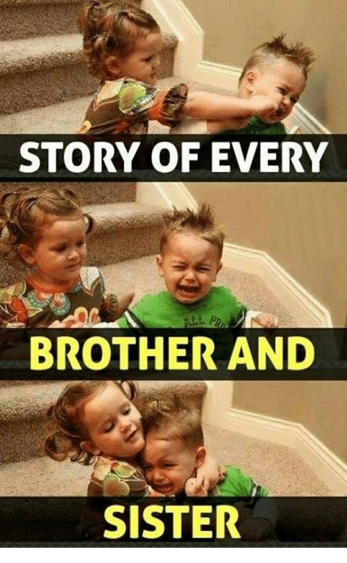 story of every brother and sister 20049463 story of every brother and sister sisters meme on me me,Brother Sister Memes