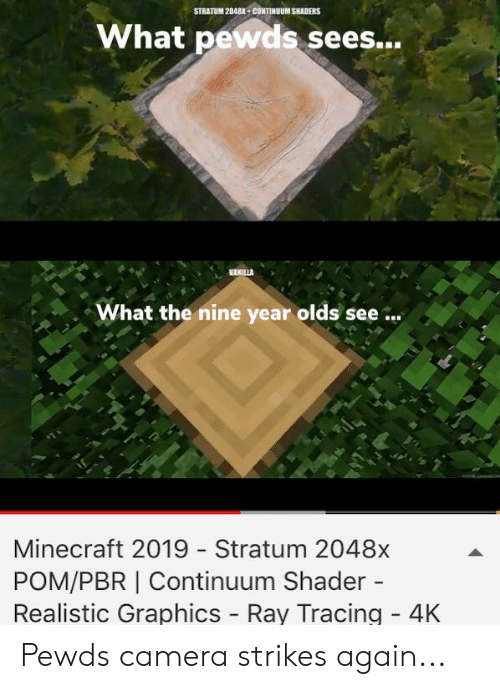 STRATUM 2048K+CONTINUUM SHADERS What Pewds Sees What the Nine Year