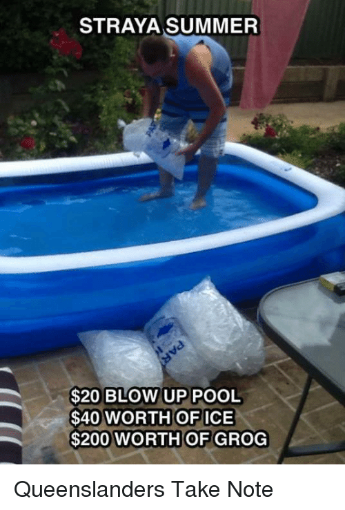Straya Summer 20 Blow Up Pool 40 Worth Of Ice 200 Worth
